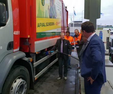Opening Blauwe Diesel pomp bij Tamoil Alkmaar