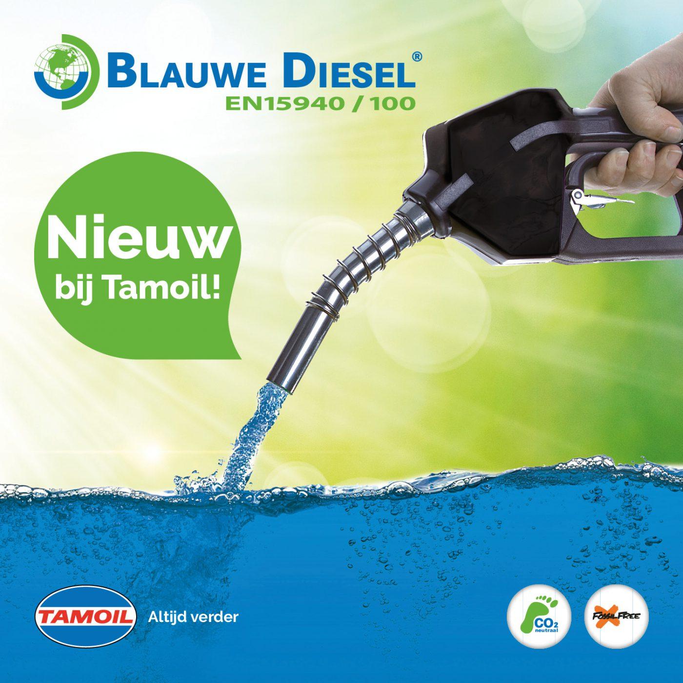 Nieuw bij Tamoil: Blauwe Diesel 100