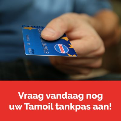 Vraag vandaag nog uw Tamoil tankpas aan!